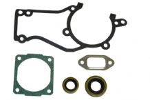 STIHL 028 028AV GASKET SET COMPLETE WITH CRANKSHAFT SEALS